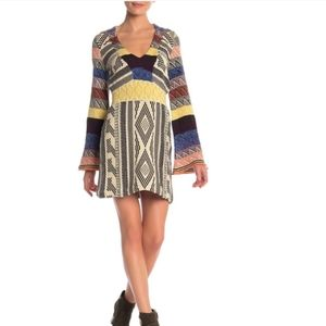 NWT Free People | Patchwork Sweater Dress size XS